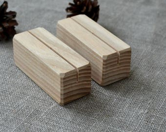 100 Wood Place Card Holders for Wedding and Party, DIY Rustic Table Number Holders, Wedding Decor, Cafe, Restaurant Table Number Holder