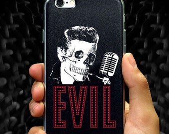 Punk Rock iPhone case Lowbrow Nu gothic Evil Elvis Tumblr Aesthetic Pop Surrealism iPhone 6 6s 6+ 6s+ 7 7+ 8 8+ plus X Spooky Creepy