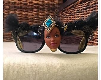 Mixed Metal Barbie Embellished Sunglasses