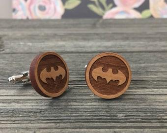 Batman Wooden Cuff Links