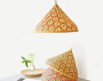 Bamboo lampshade etsy bamboo pendant lamp woven bamboo lamp lamp shade n 2 mozeypictures Gallery