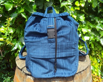 Blue corduroy big backpack