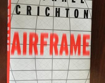 Airfame Michael Crichton Book First Trade Edition Vintage Novel Thriller Suspense Fiction