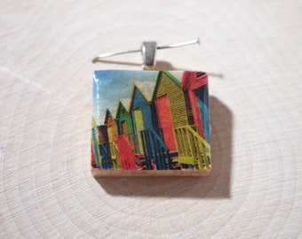 Scrabble Tile Pendant Necklace