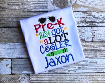 Boy Pre-K Back to School Shirt