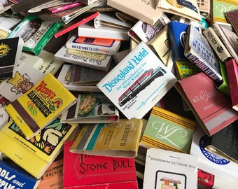 Vintage Match Book Lot, 40 Vintage Match Books, Vintage Matchbooks