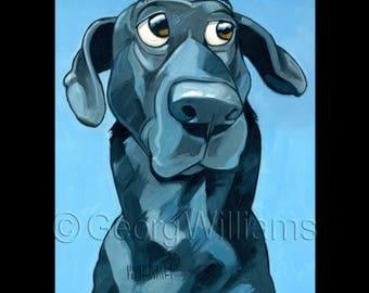 "Pet Portrait Giclee Print ""Sal"""