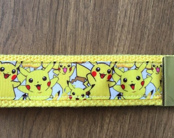 Pikachu Key Chain Wristlet Zipper Pull