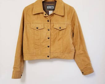 Vintage Leather Tan Cropped Jacket