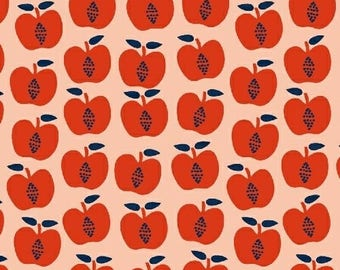 Hand Picked - Apples Red - Carolyn Gavin of Ecojot - Windham (43113-4) - Organic Cotton
