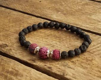 Lava bead bracelet,  Essential oil diffuser bracelet, Diffuser bracelet, Lava bead essential oil bracelets,  Aromatherapy bracelets,Diffuser