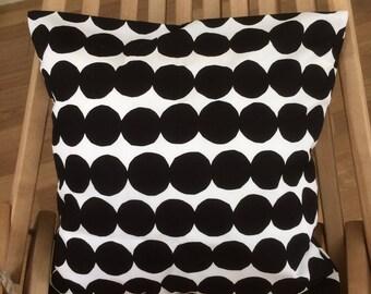 Rasymatto pillow case, handmade from Marimekko cotton fabric, from Finland, many sizes