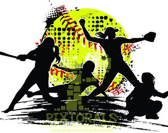 softball clipart etsy rh etsy com softball clipart free black and white softball clipart free