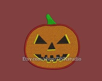 Halloween Pumpkin Embroidery Design - 6 Sizes - INSTANT DOWNLOAD