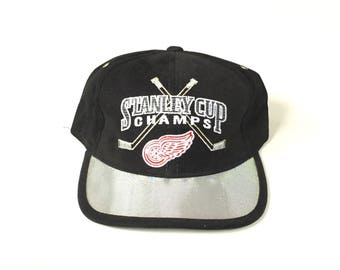 STARTER Detroit redwings stanley cup champions Snapback Snap back Strapback hat One Size Adult Unisex twill nhl hockey