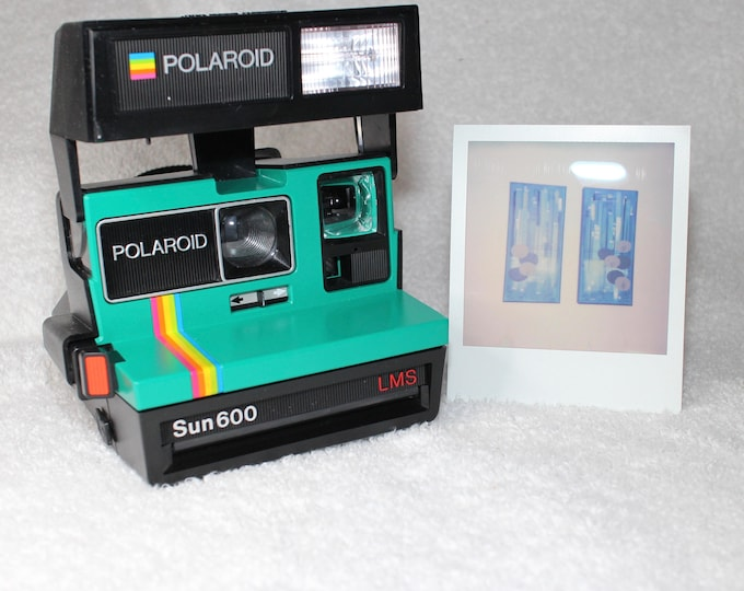 Emerald Green Rainbow Polaroid Sun 600 - Works Great, Tested and Cleaned