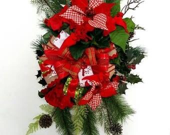 Christmas Wreath, Christmas Door Wreath, Christmas Decor, Door Decor, Christmas Swag, Christmas Door Decor, Holiday Decor, Holiday wreath