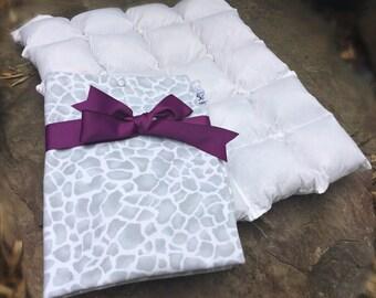Sugarboy's Original Paca Pet Pouf Pet Bed With Mozambique Cloud Flannel Cover