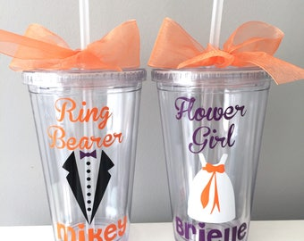 Flower Girl, Flower Girl Tumbler, Flower Girl Gift, Personalized Tumbler, Ring Bearer Personalized Tumbler, Flower Girl Cup