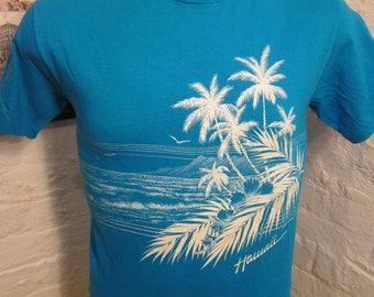 Size M- (40) ** 1980s Hawaii Shirt (Single Sided)