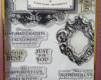 Downton Abbey Clear Stamp: Sentiments