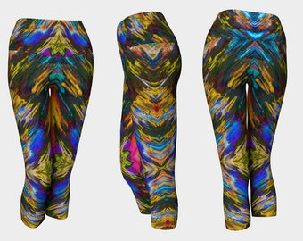 04641 Yoga Capri: Tree Photography, Yoga Leggings, Yoga Tights, Running Tights, Yoga Pants, Leggings