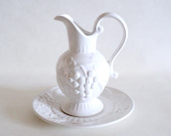 Small Pereiras Portugal Pitcher With Saucer