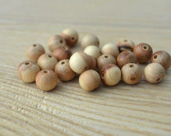 Juniper 10mm beads, wooden beads, natural beads, beads unfinished