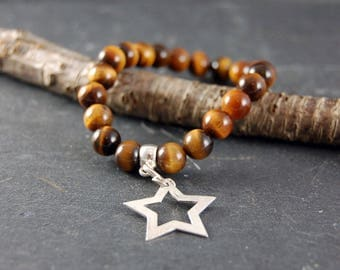 Tigers Eye Star Talisman Bracelet