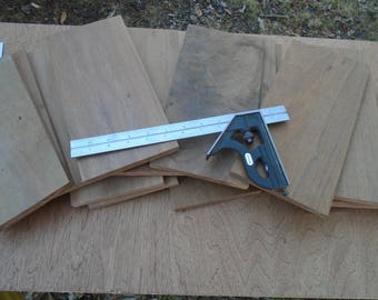 Black Walnut lumber cutoffs. Scrap wood pieces. Woodworking lumber. Craft wood.