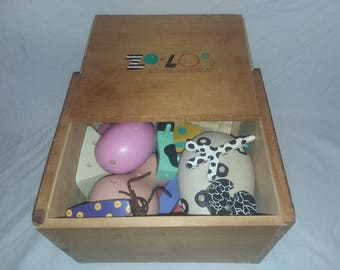 Vintage, Complete ZOLO Memphis Toy Set, 1980s