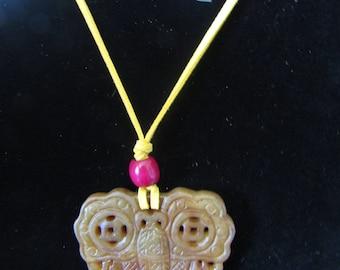 Abstract Soapstone Pendant Necklace Gemstone # 148