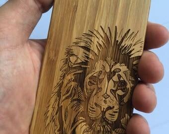 Lion Case Tribal Case Lion King Case Wood Phone Case Droid Case iPhone Case Wood Phone Cover Wooden Phone Case Wooden Phone Cover