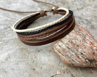 Mens Bracelet, Mens Gift, Leather Bracelet Men, Mens Leather Bracelet, Boyfriend Gift, Valentines's Day Gift, Gift, Graduation Gift, JLA-73
