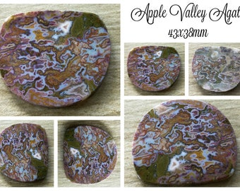 Apple Valley cabochon 43x38mm