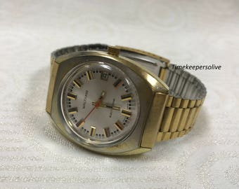 a247 Vintage Original Waltham Swiss Stainless Electric Electrodyne Wrist Watch