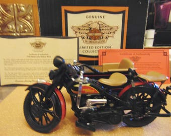 Harley Davidson 1933 Motorcycle w/ Sidecar Bank