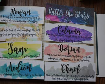 Throne of Glass Character Quote Bookmarks