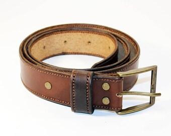 Brown Leather Belt ,Leather Belt , Handmade Belt,Great Gift.Brown belt.