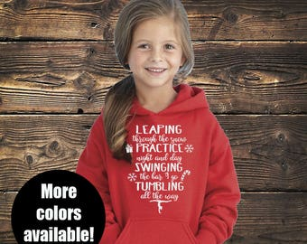 Leaping Through The Snow Gymnastics Hoodie