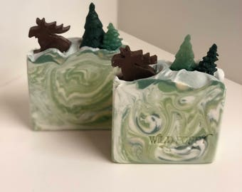 Great North Woods w/ Moose Soap / Artisan Soap / Handmade Soap / Soap / Cold Process Soap