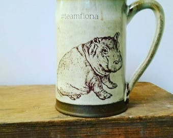 Fiona Mug - where hippos are rockstars