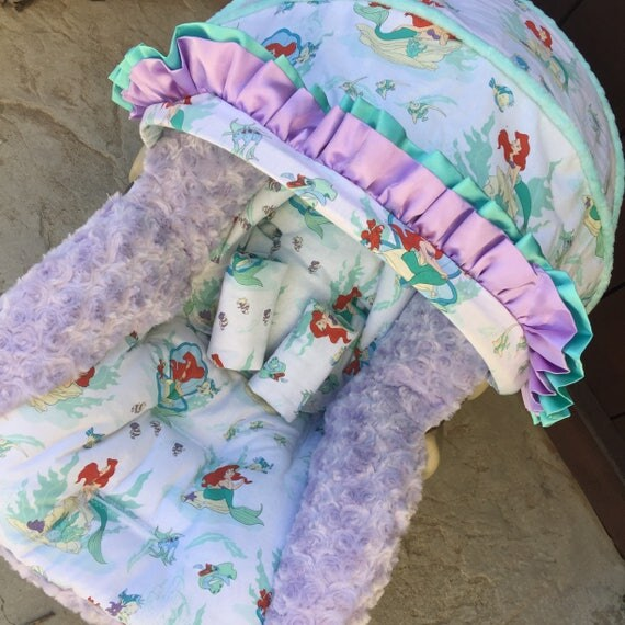Little Mermaid Infant Car Seat Replacement Cover