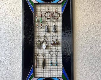 Stained Glass Earring Display