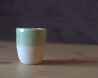 Hand Made, Wheel Thrown, Porcelain Cup | Half and Half Cup