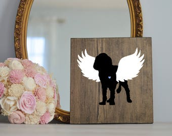 English Springer Spaniel Angel Wing Silhouette, Remembrance Sign, Dog Memorial, Loss of Dog, English Springer, English Springer Loss