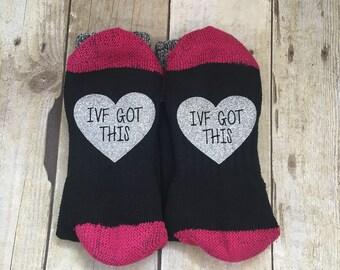 IVF got this, Motivational Socks, Think Positive