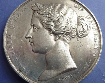 British Historical Medal. 1862 Universal Exhibition London. Queen Victoria.