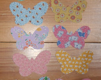 Butterfly patchwork applique