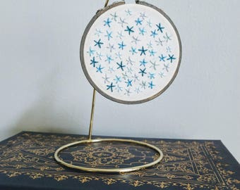 starry night | hand embroidery